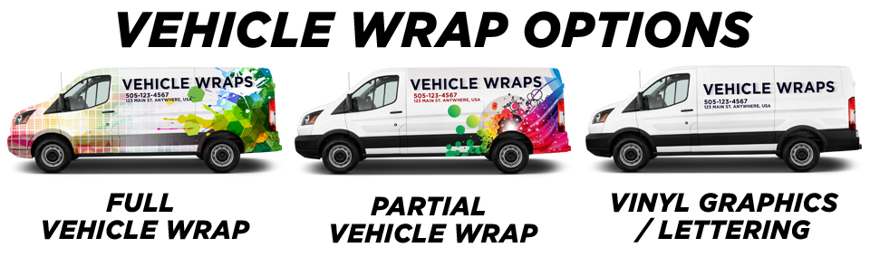 Elmont Vehicle Wraps vehicle wrap options