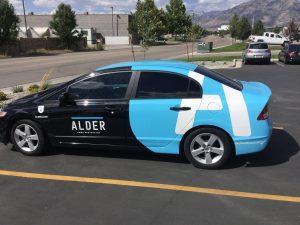 custom partial car wrap